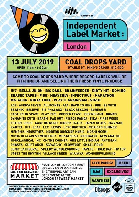 Independent Label Market : London (Summer 2019) at Coal Drops Yard on Sat 13th July 2019 Flyer