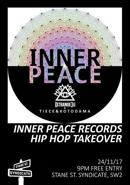 Inner Peace w/ Strange U at Stane Street Syndicate on Fri 24th November 2017 Flyer