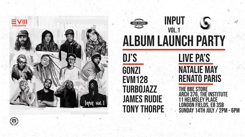 INPUT Album Launch Party at The Institute of Light on Sun 14th July 2019 Flyer