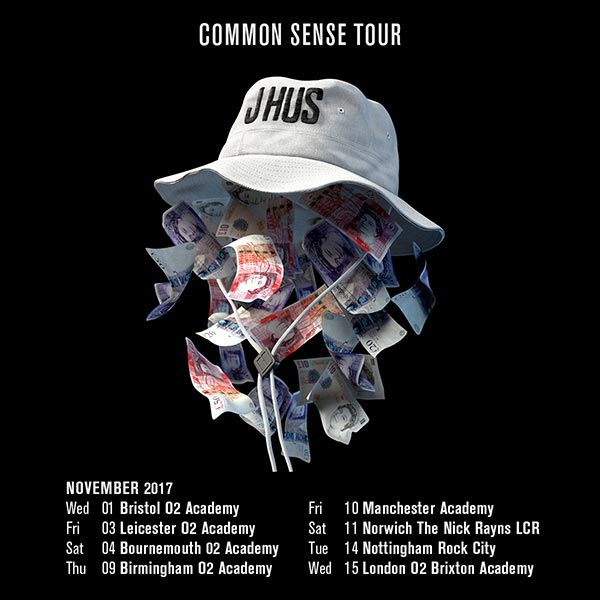 J Hus at Brixton Academy on Wed 15th November 2017 Flyer