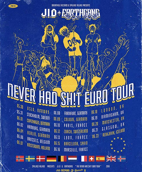 J.i.d & Earthgang at XOYO on Mon 18th June 2018 Flyer