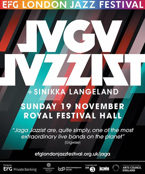 Jaga Jazzist at Royal Festival Hall on Sun 19th November 2017 Flyer