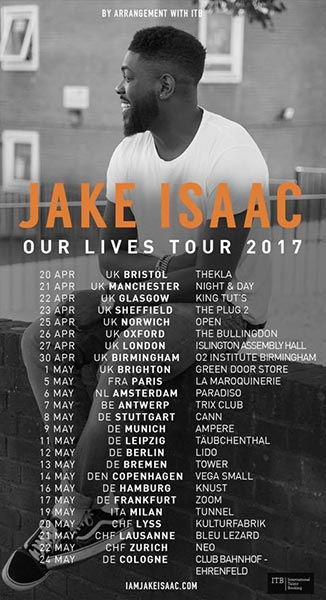 Jake Isaac at Islington Assembly Hall on Thu 27th April 2017 Flyer