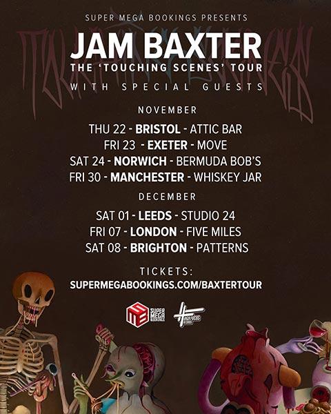 Jam Baxter at Five Miles on Fri 7th December 2018 Flyer