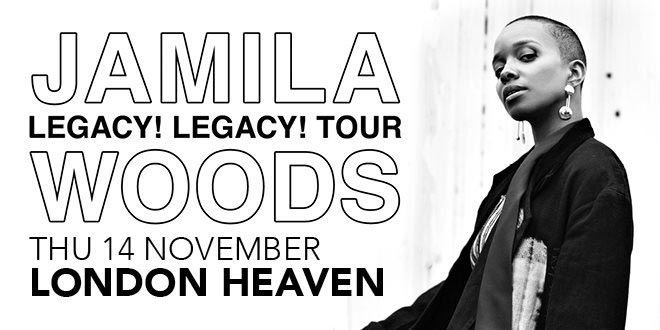 Jamila Woods at Heaven on Thu 14th November 2019 Flyer