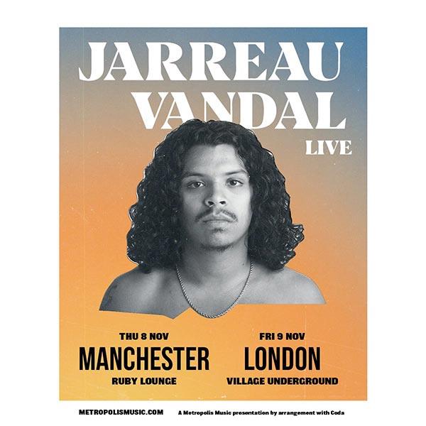 Jarreau Vandal at Village Underground on Fri 9th November 2018 Flyer