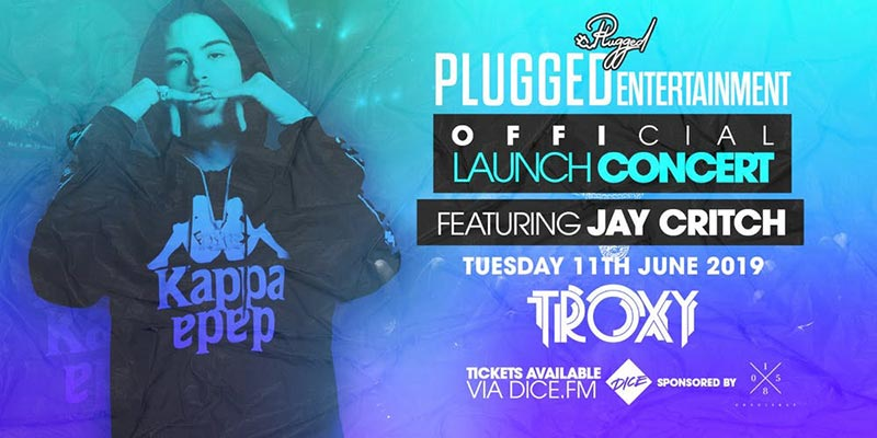 Jay Critch at The Troxy on Tue 11th June 2019 Flyer