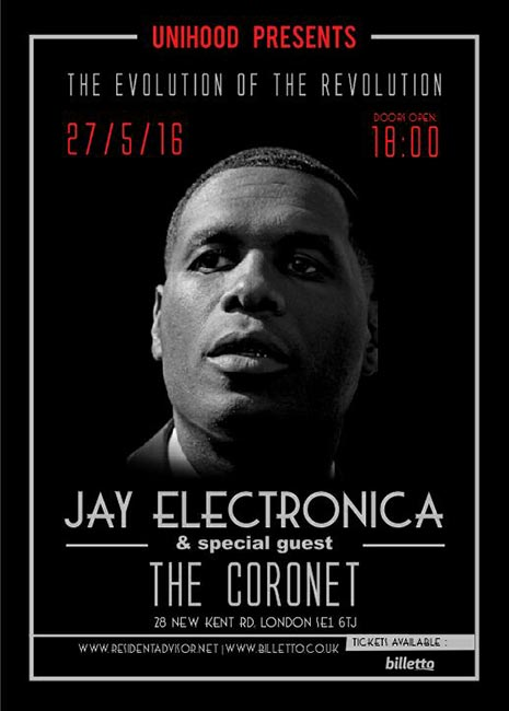 Jay Electronica at KOKO on Saturday 23rd July 2016 Flyer