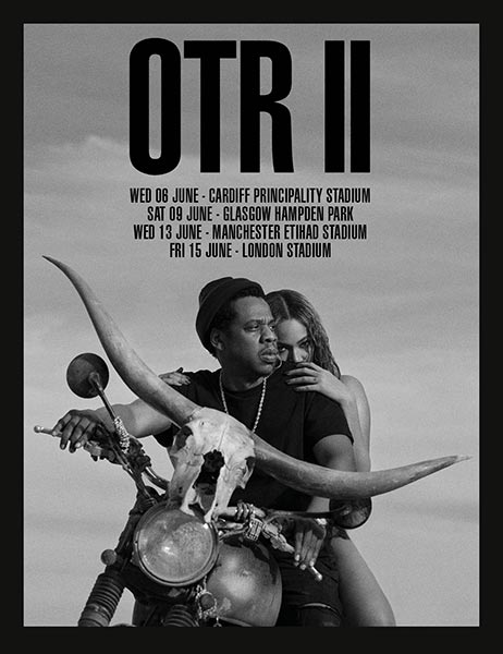 Jay Z & Beyonce - OTR II at London Stadium on Fri 15th June 2018 Flyer
