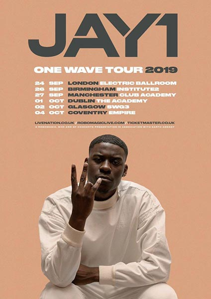 JAY1 at Electric Ballroom on Tue 24th September 2019 Flyer