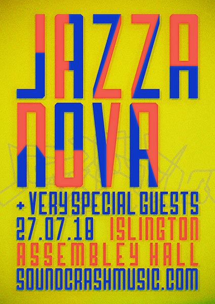 Jazzanova at Islington Assembly Hall on Fri 27th July 2018 Flyer