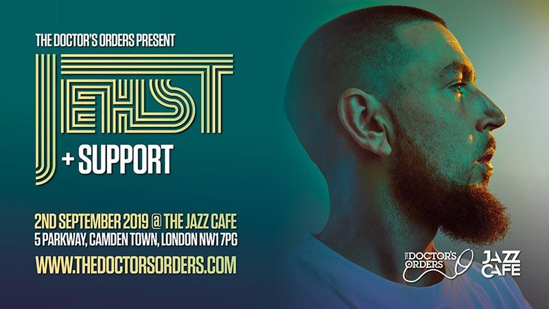 Jehst at Jazz Cafe on Mon 2nd September 2019 Flyer