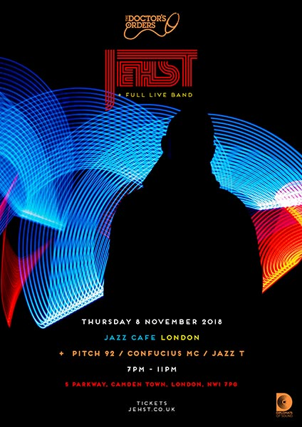 Jehst at Jazz Cafe on Thu 8th November 2018 Flyer
