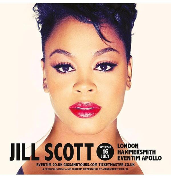 Jill Scott at Trapeze on Saturday 16th July 2016 Flyer