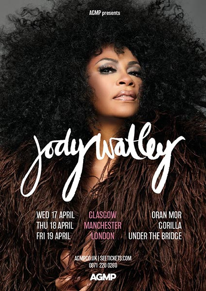 Jody Watley at Under the Bridge on Fri 19th April 2019 Flyer