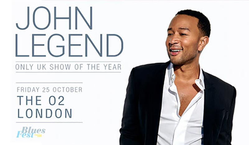 John Legend at The o2 on Fri 25th October 2019 Flyer