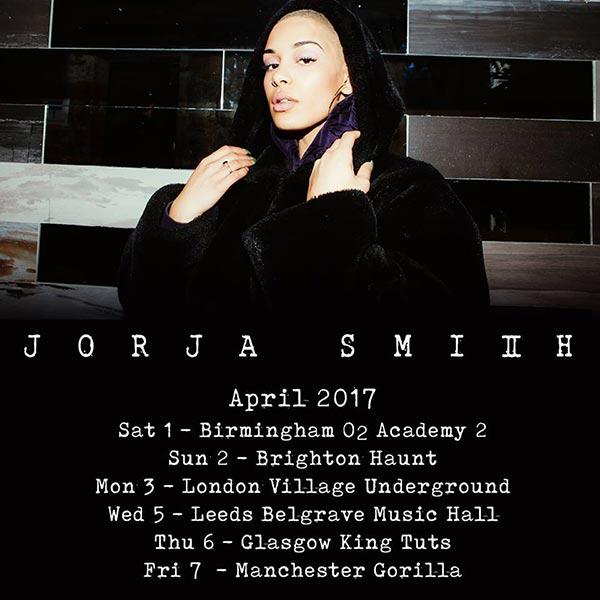 Jorja Smith at Brixton Academy on Monday 3rd April 2017 Flyer