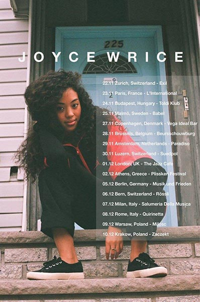 Joyce Wrice at Finsbury Park on Friday 1st December 2017 Flyer