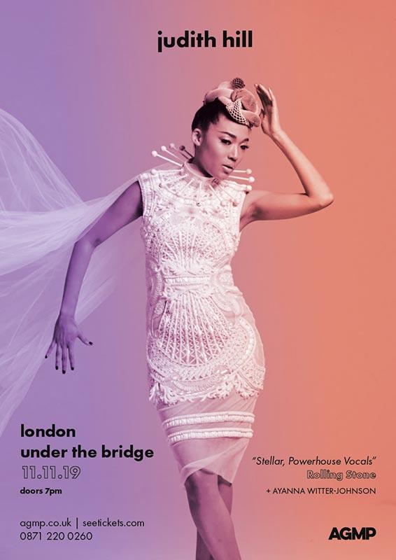 Judith Hill at Under the Bridge on Mon 11th November 2019 Flyer