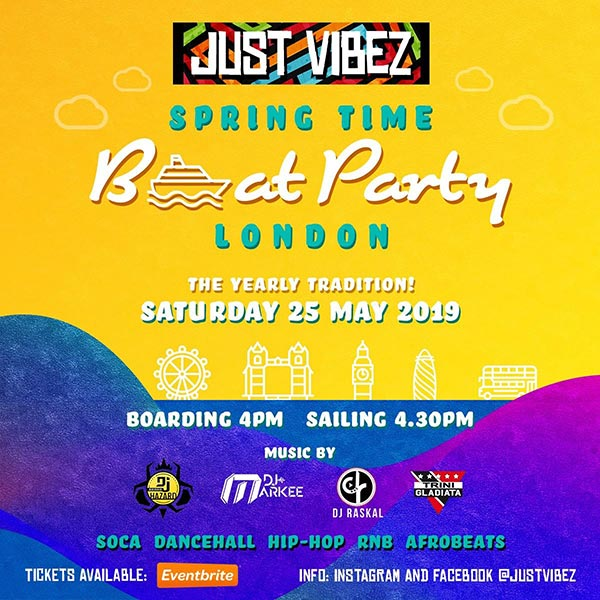 Spring Time Boat Party at TBA on Sat 25th May 2019 Flyer