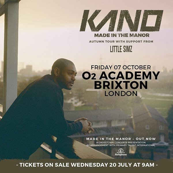 Kano at The Forum on Friday 7th October 2016 Flyer