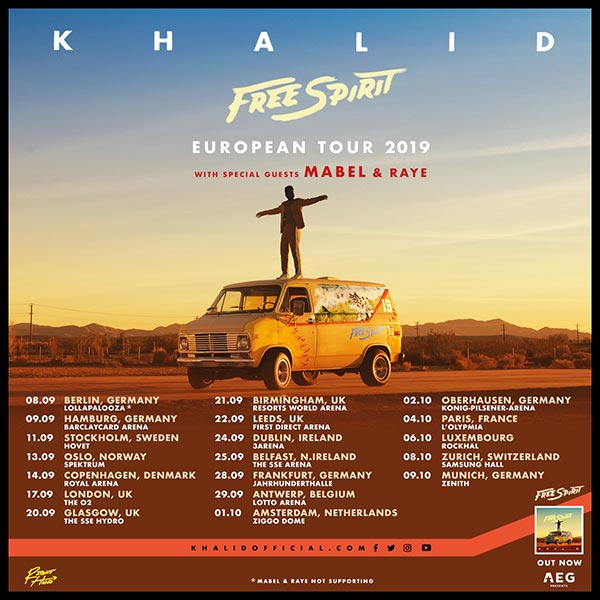 Khalid at The o2 on Tue 17th September 2019 Flyer