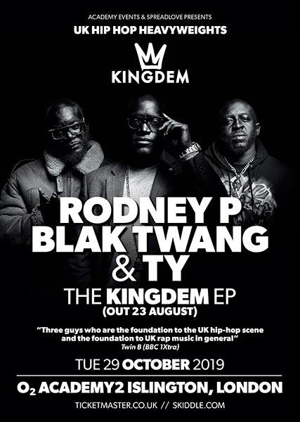 Kingdem at Islington Academy on Tue 29th October 2019 Flyer