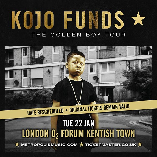 Kojo Funds at The Forum on Tue 22nd January 2019 Flyer