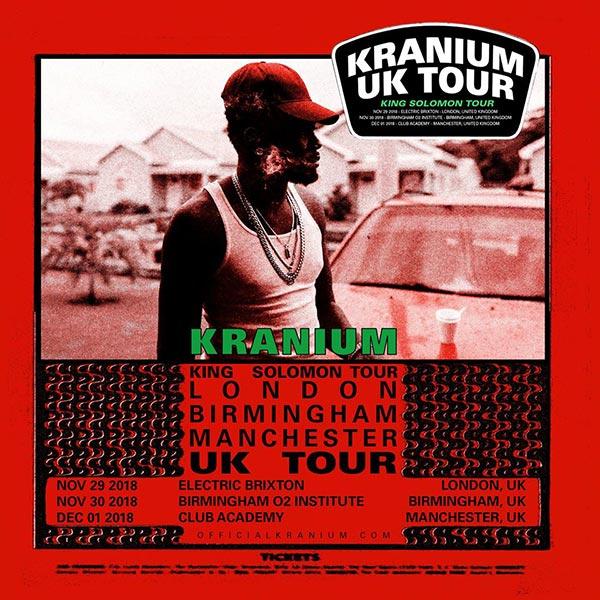 Kranium at Electric Brixton on Thu 29th November 2018 Flyer