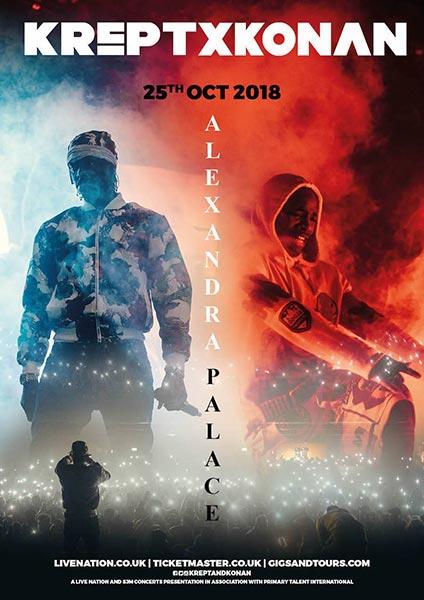 Krept and Konan at Alexandra Palace on Thu 25th October 2018 Flyer
