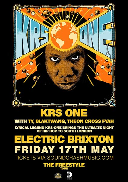 KRS One at Electric Brixton on Friday 17th May 2019 Flyer