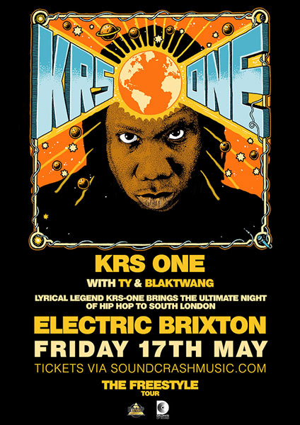 KRS One at Electric Brixton on Fri 17th May 2019 Flyer