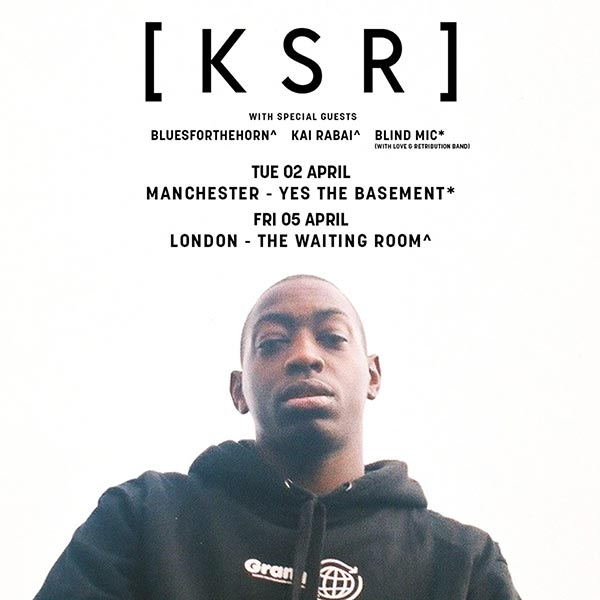 [ K S R ] at The Waiting Room on Fri 5th April 2019 Flyer