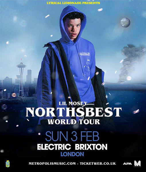 Lil Mosey at Electric Brixton on Sun 3rd February 2019 Flyer