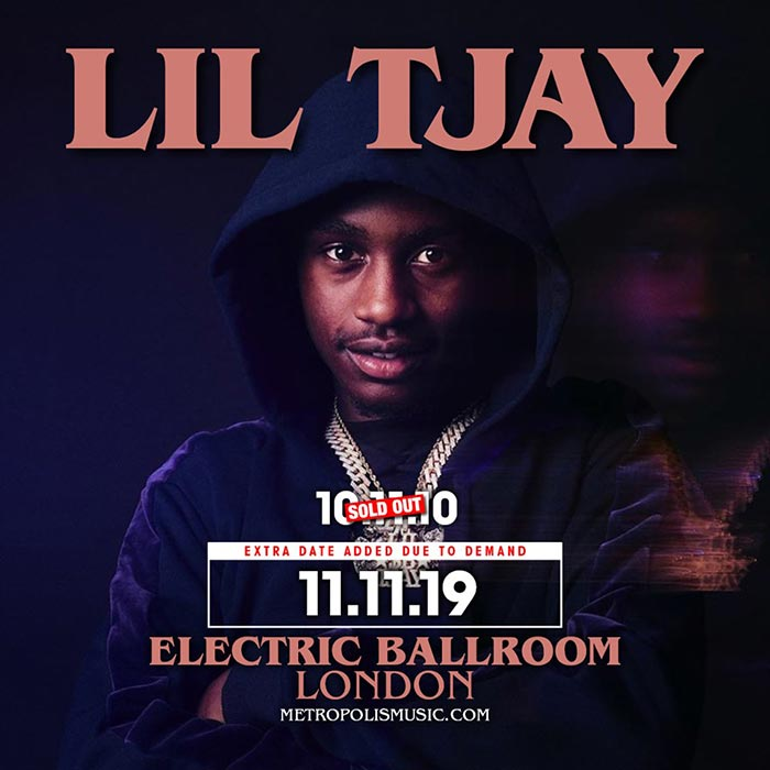 Lil Tjay at Electric Ballroom on Mon 11th November 2019 Flyer
