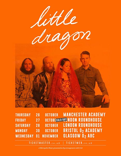 Little Dragon at Finsbury Park on Friday 27th October 2017 Flyer