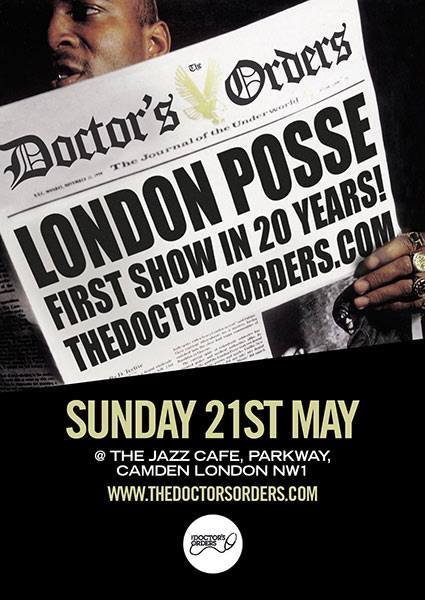 London Posse at The Forum on Sunday 21st May 2017 Flyer
