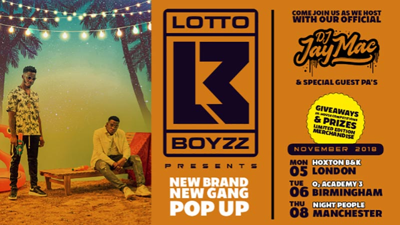 Lotto Boyzz at Hoxton Square Bar & Kitchen on Mon 5th November 2018 Flyer