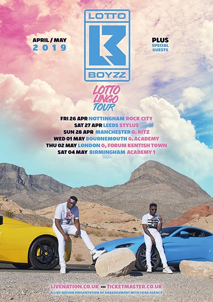 Lotto Boyz at The Forum on Thu 2nd May 2019 Flyer
