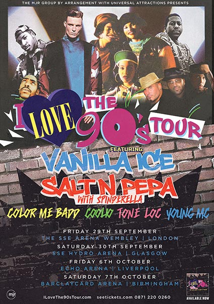 I Love the 90s Tour at Wembley Arena on Fri 29th September 2017 Flyer
