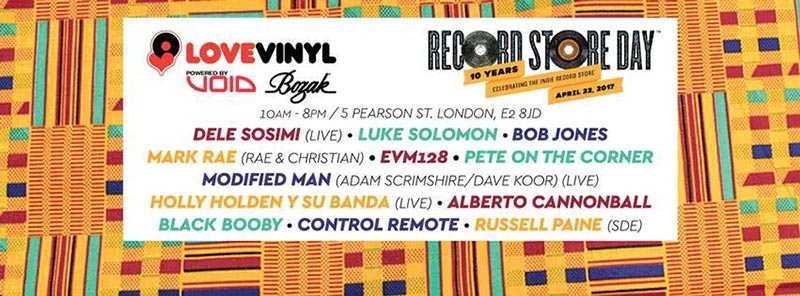 Record Store Day 2017 at Love Vinyl on Sat 22nd April 2017 Flyer