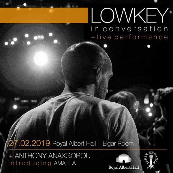 Lyrix Organix at Royal Albert Hall on Wed 27th February 2019 Flyer