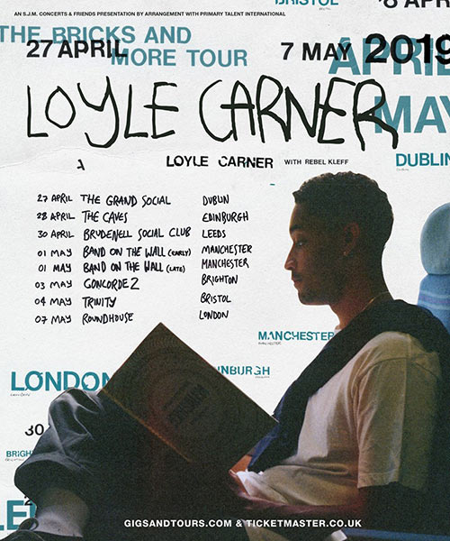 Loyle Carner at The Roundhouse on Tue 7th May 2019 Flyer
