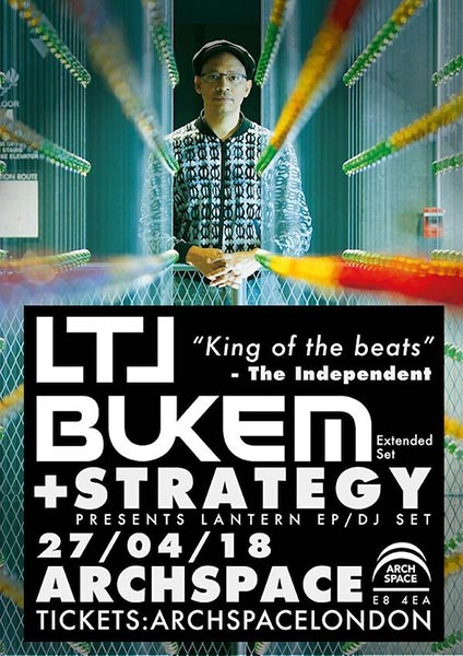 LTJ Bukem at Archspace on Fri 27th April 2018 Flyer