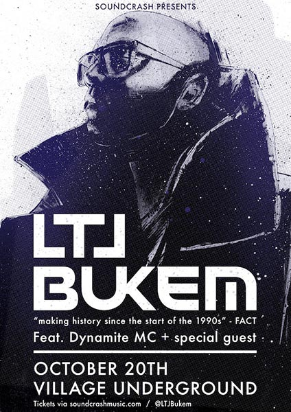 LTJ Bukem at Village Underground on Fri 20th October 2017 Flyer