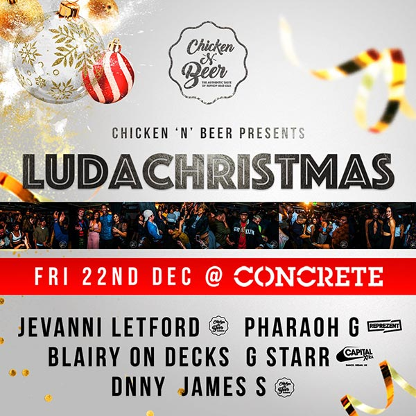 Ludachristmas at Concrete on Friday 22nd December 2017 Flyer