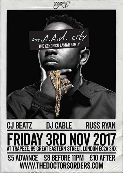 m.A.A.d City  at Finsbury Park on Friday 3rd November 2017 Flyer