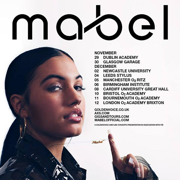 Mabel at Brixton Academy on Wed 12th December 2018 Flyer
