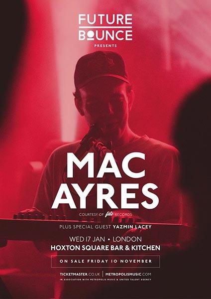Mac Ayres at Hoxton Basement on Wed 17th January 2018 Flyer