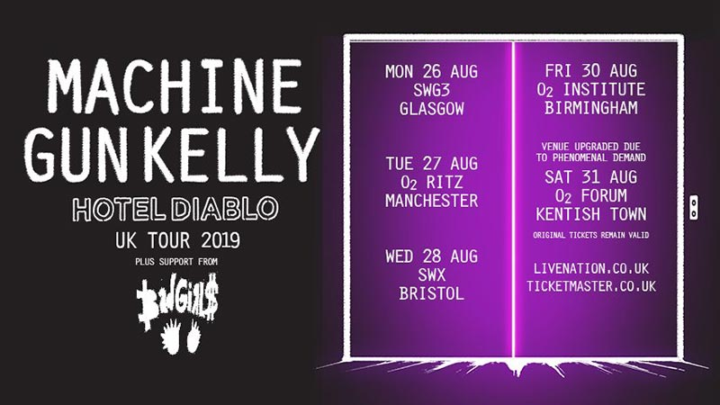 Machine Gun Kelly at Electric Ballroom on Sat 31st August 2019 Flyer